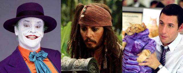 Johnny Depp, Jack Nicholson e Adam Sandler